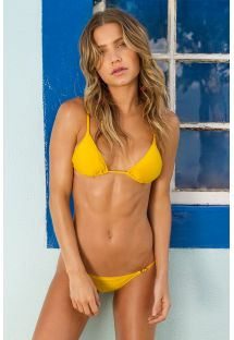 Yellow adjustable Brazilian bikini - TEMPERO ARG FIXO
