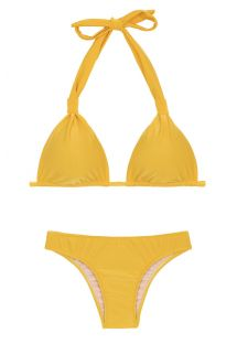 Yellow triangle halter bikini - TEMPERO CORTINAO