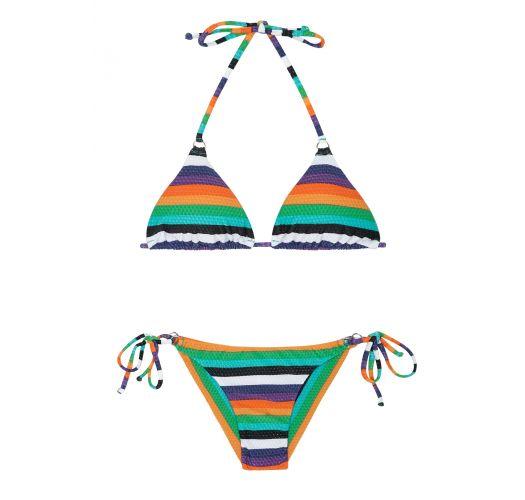 e17d8aeee1a59 Maillot De Bain Brésilien Rayé Multicolore - Tepego Cheeky - Rio de Sol