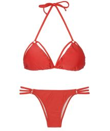 Brazilian Bikini - TIRAS TRIO RED