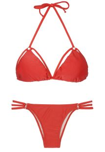 Bikini brazilieni - TIRAS TRIO RED