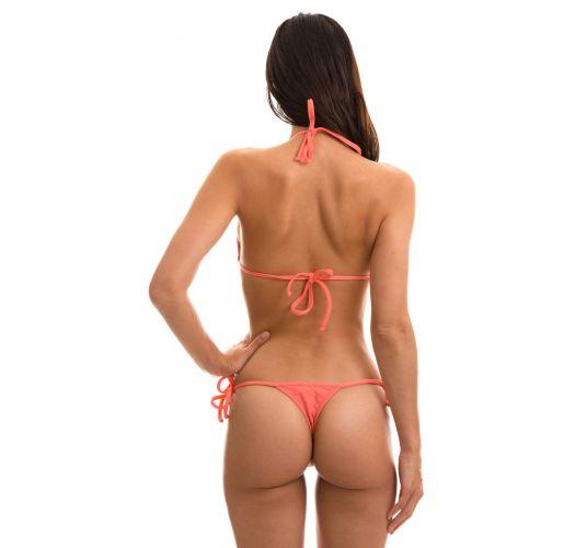 Bikinistring i rosa med knytting - TRI MICRO ROSA HARMONIA