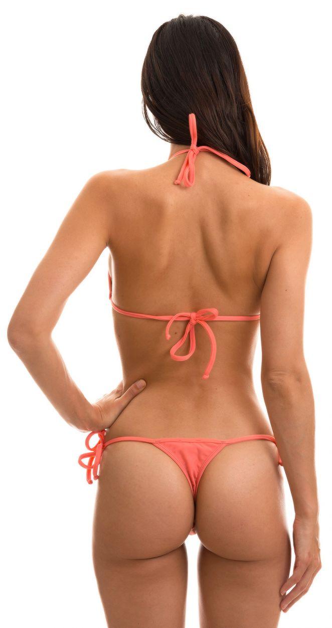 Side-tie pink string bikini - TRI MICRO ROSA HARMONIA