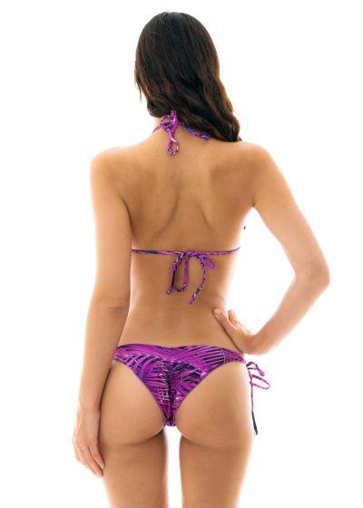 Lövmönstrad skrynklad bikini i mörklila - ULTRA VIOLET FRUFRU