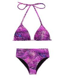 Purple high-waited bikini - ULTRA VIOLET HOT PANT