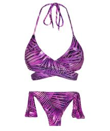 Purple wrap side-tie bikini - ULTRA VIOLET TRANSPASSADO