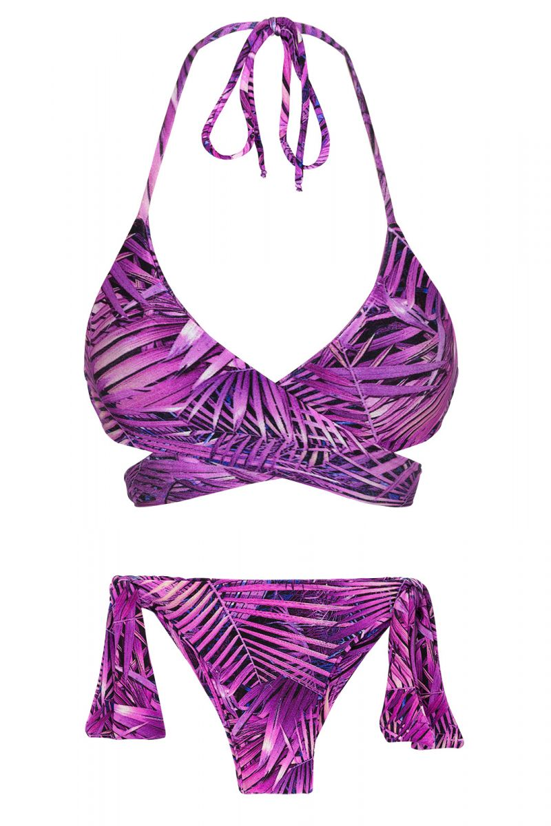 Purple wrap side-tie bikini - ULTRA VIOLET TRANSPASSADO