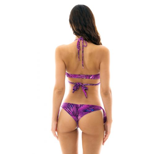 Purpurfarbener Wrap-Side-Tie-Bikini - ULTRA VIOLET TRANSPASSADO