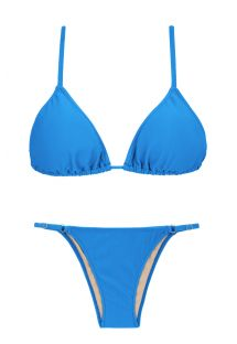 Blue Brazilian bikini with adjustable bottom - URANO ARG FIXO