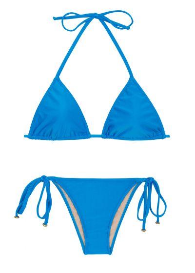 Blå, brasiliansk bikini med accessoarer - URANO LACINHO