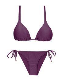 Accessorized iridescent purple scrunch bikini  - VIENA INV COMFORT