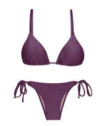Bikini brésilien violet irisé accessoirisé - VIENA INVISIBLE