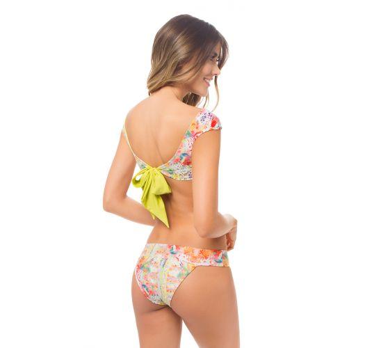 Brassiere bikini reversible with bow on back - AURORA BOHEME