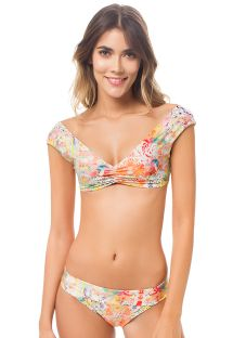 Brassiere bikini reversible with bow on back - AURORA BOHEME