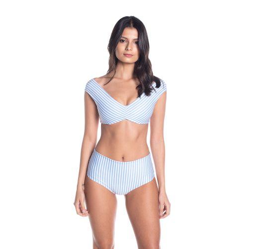 BBS X SAHA - floral wendbaren Bikini mit hoher Taille - AURORA FLORAL SWEETNESS