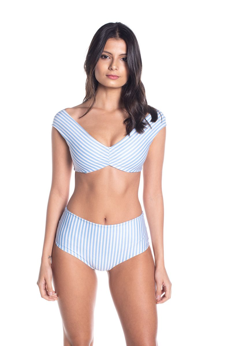 BBS X SAHA - blommig vändbar bikini med hög midja - AURORA FLORAL SWEETNESS