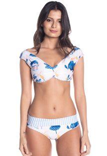 BBS X SAHA - omkeerbare bikini met bloemenprint, broekje met hoge taille - AURORA FLORAL SWEETNESS