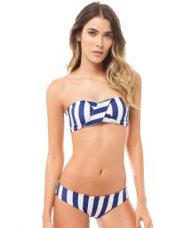 Striped bandeau top bikini with reversible bottoms - BAHIA NAUTICAL