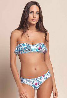 Bikini floral con volante, parte de arriba multiposición - BREATH RUFFLES