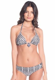 Reversible stripped / black triangle bikini - CARIBE LIGHT STRIPES