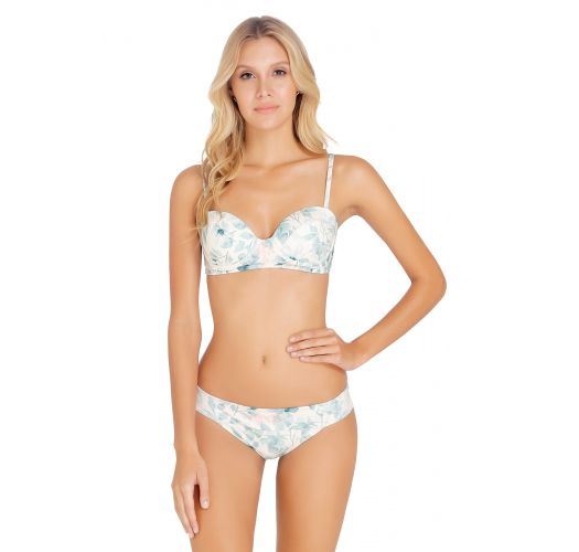 Floral balconette bikini with embroidered details - FREYA BLOSSOM