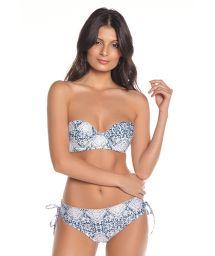 Bikini bandeau à coques imprimé bas réversible - FREYA SAND TRACE
