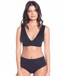 Black bra bikini with reversible high waist bottom - SIERRA BLACK NIGHT