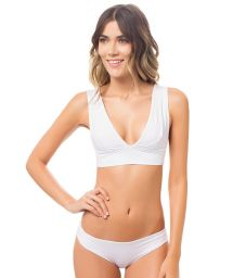 White sports-bra style bikini knot at the back - SIERRA BRANCO