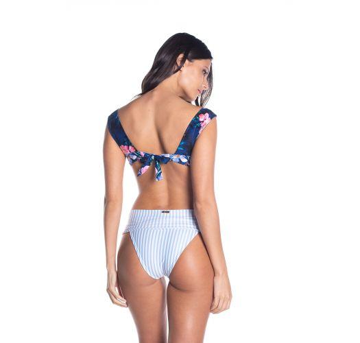 BBS X SAHA - high-waisted bra bikini flowers / stripes - SIERRA FLORAL NIGHT