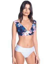 BBS X SAHA - bh-bikini med hög midja och blommor / -ränder - SIERRA FLORAL NIGHT