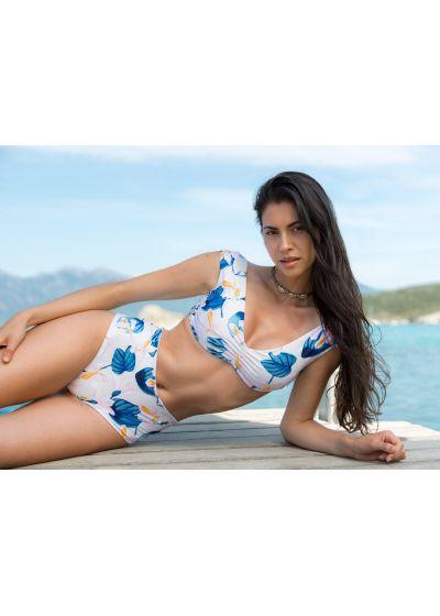 Färgglatt blommönstrad bikini med bh-överdel - SIERRA FLORAL SWEETNESS