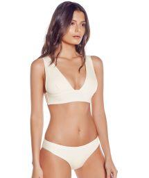 Off-white bra bikini with fixed bottom - SIERRA IVORY