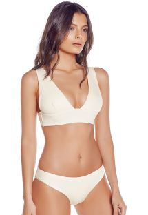 Off-white bra bikini with fixed bottom - SIERRA IVORY
