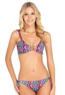 Reversible bra bikini tropical print / red - TROPICO DECO