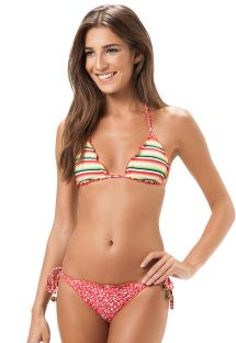 Reversable retro Brazilian swimsuit - ARKANSAS