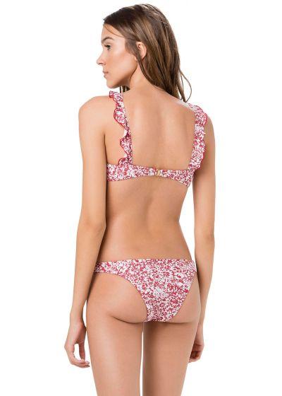 Korsad liberty-röd crop topp-bikini - BABADO SWEETY