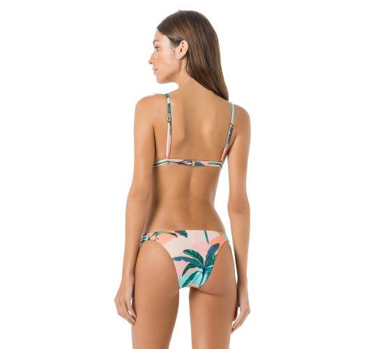 Triangle Bikini, unverstellbar,tropischer Aufdruck in Pastellfarben - BOJO BRISA