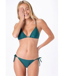 Dark green side-tie Brazilian bikini - CLASSIC INTIMATES