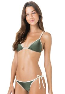 Grüner Triangle Bikini mit weißem Rand - CORTININHA VIES ARGOLA VERDE