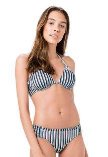 Comfortable bikini in blue stripes - FRANZIDO GAROUPA