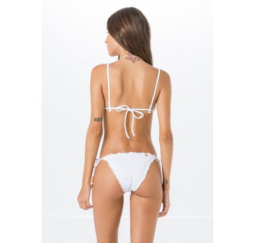 Textured white Brazilian scrunch bikini - FRUFRU ANARRUGA BRANCO