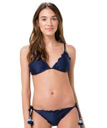 Navy blue Brazilian scrunch bikini - FRUFRU MARINHO