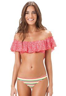 Gebloemde bikini, gestreept broekje - HAVAI