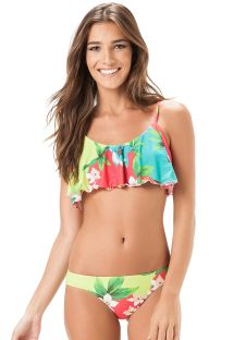 BSports bra style floral swimsuit with decorative floral - LESLIE BABADO