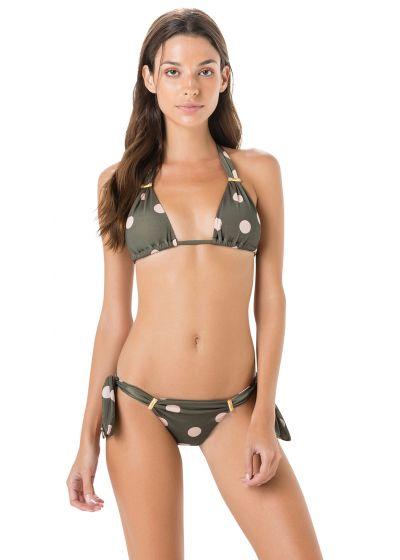 Side-tie grey bikini - polka dots - LONGO PASSADOR POP