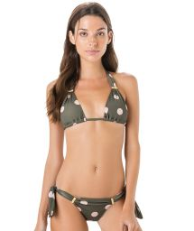 Side-tie grey bikini - polka dots - LONGO PASSADOR POP
