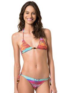 Bikini brésilien texturé paysage multicolore - MARROCOS