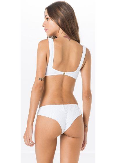 Texturerad vit bh-bikini, sportig skärning - MIRACLE ANARRUGA BRANCO
