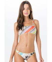 Bra bikini - tropical vintage print - MIRACLE DRONE