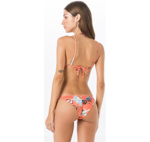 Triangle bikini in khaki / orange lavender print - MIRACLE LAVANDA